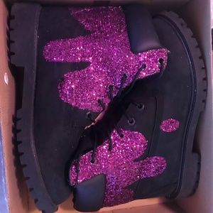 Custom drip timberlands 7 Junior